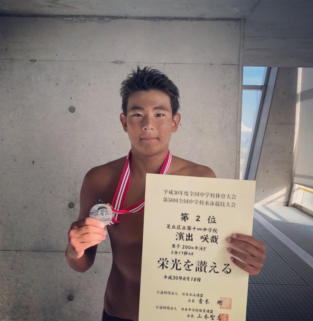 第58回 全国中学水泳競技大会 大会結果